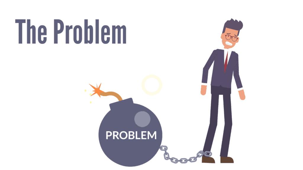 Explainer video script template -te problem