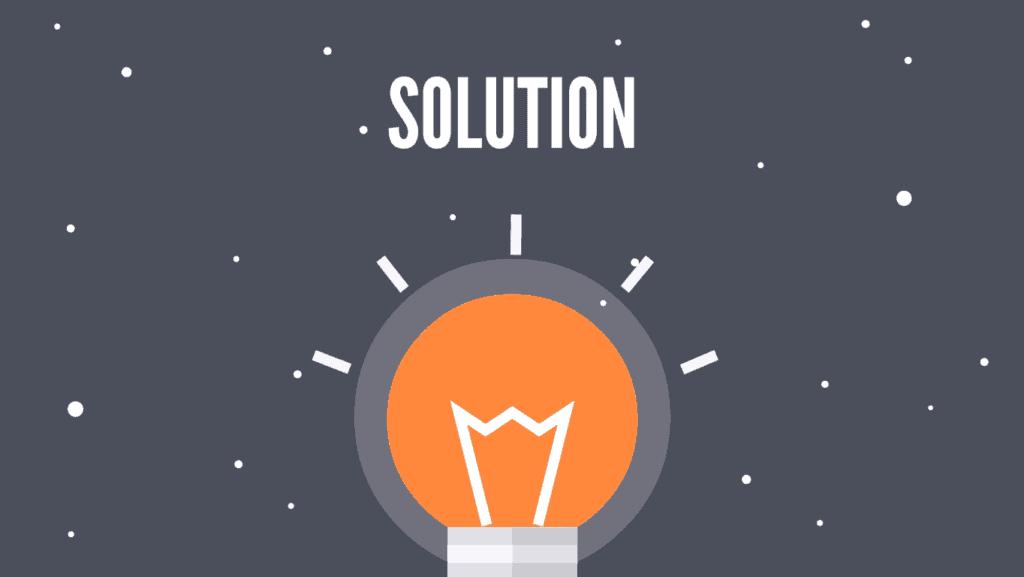 explainer video script template -The solution